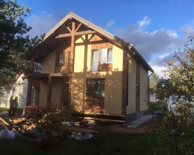 Строительство дома из СИП панелей по индивидуальному проекту в п. Касимово Ленинградской области