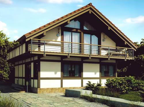 Проект дома из СИП панелей ФОРЕСТ